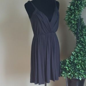 💋LOFT❤ TWISTED STRAP BLACK RAYON/SPAN DRESS